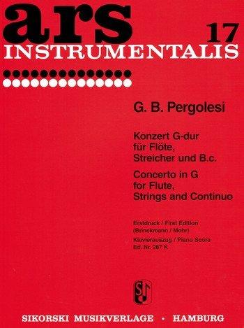 Konzert G-Dur - Fl Str Bc. Flöte, Klavier