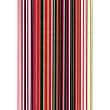 Bobina de papel de regalo rayas rojo, negro, oro, 110 mts X 70 cm, clásico elegante