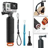 GoPro Poignée Flottant, Homeet Etanche Action Caméra Grip Pôle Ergonomique Handle Selfie Stick Anti-glissant à Plonger pour GoPro Hero 5/4/3+/3/2/SESSION/ SJCAM/SONY HDR FDR/Garmin Virb XE/Xiaomi Yi 4K/DBPOWER QUMOX/Akaso/Apeman etc.【ORANGE】