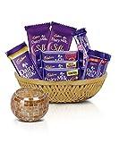 #5: Cadbury Assorted Chocolates Diwali Tokri, 361g - With Tea light