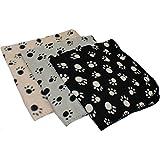 3er Set Hundedecken, Katzendecken, Haustierdecken versch. Größen (70 x 70 cm)
