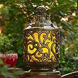 Rishx Esterno di lusso impermeabile post leggero alluminio arrugginito E27 Edison colonna lampada Villa cortile prato decorazione di terracotta pilastro di vetro percorso di strada illuminazione Fixut