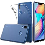 "Peakally Coque Honor Play, Ultra Fine TPU Silicone Transparent Souple Housse Etui Coque pour Honor Play 6.3"", Adhérence Parfaite/Anti Rayures/Anti-Scratch-Transparent"