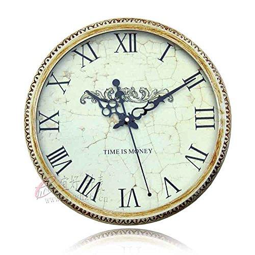 SL&HEY Home / / / Hotel / soggiorno esclusivo creativo / muto / metallo / Ferro Art Nouveau orologio al quarzo , Giallo Terra 14 pollici