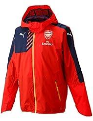 Puma Arsenal lluvia Fútbol Club réplica (con capucha) chaqueta Rojo High Risk Red/Black Iris Talla:large