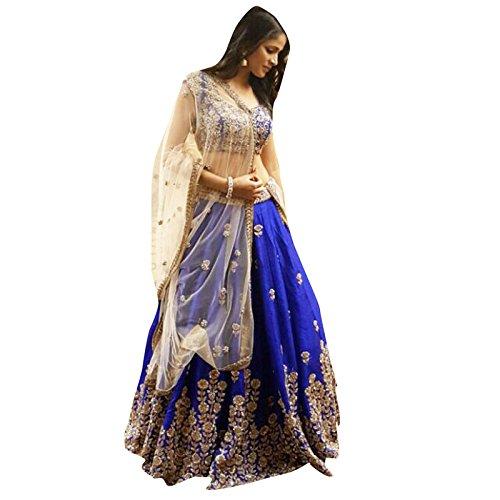 FebForrest Women\'s Blue Banglory Designer Lahenga Choli [SL 13(FF_A911)]