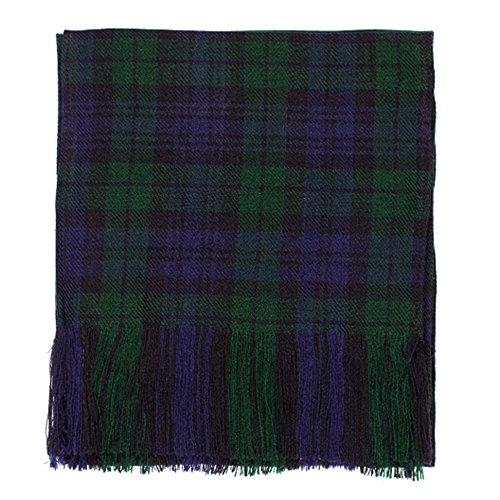 Neue Damen Schwarz Armbanduhr Scottish Tartan Budget Band 100% Wolle Acryl für Kilt - Wolle Kilt