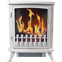 Chemin 'Arte 1403d Fire Glass chimenea eléctrica, 2000W, color blanco, 45x 29x 55cm