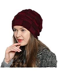 DonDon Damen warme Wintermütze Beanie Schlauch Design Strickmütze modern mit extra weichem Innenfutter