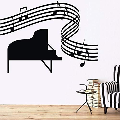 Musik Klavier Blatt Wandtattoo Music Score Hause Raumdekoration Musik Wanddekor Vinyl Wandkunst Wand 57 * 43 cm ()