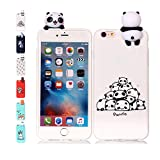 Universecase Funda iPhone 6S 6 Panda Transparente Squishy Kawaii Juguete Toy Animal Silicona...