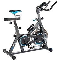Preisvergleich für Elitum Indoor Cycle Indoorcycling mit Pulsmessung Fitnessbike Speed Bike Computer Schwungrad 18 kg Einstellbarer Widerstand Sattel & Lenker verstellbar
