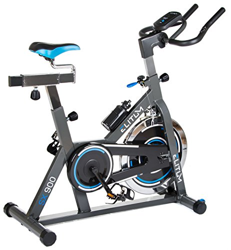 Elitum Indoor Cycle Indoorcycling mit Pulsmessung Fitnessbike Speed Bike Computer Schwungrad 18 kg Einstellbarer Widerstand Sattel & Lenker verstellbar