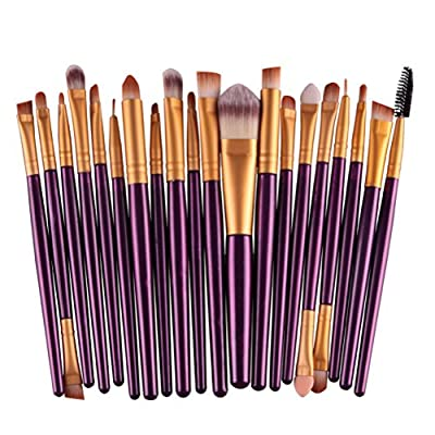 BESTIM INCUK 20-Piece Makeup Brushes Makeup Brush Set Cosmetics Foundation Blending Blush Eyeliner Concealer Face Powder Brush