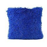 Cushion Cover, Manadlian 2017 New Home Decor Fluffy Pillow Case Sofa Waist Throw Cushion Cover 43*43cm (43*43cm, Blue)