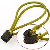 VERY100 Ersatzgummi für Steinschleuder Zwille Schleuder 2 Streifen High Tec Gummi Ersatzgummi Steinschleuder Sport Schleuder Gummi Zwille Armee grün (2 stück)