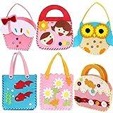Dsaren Kit de Couture pour Enfant, Kit de Bricolage pour Enfants en Feutre en Tissu Cadeau de Couture Créatif pour Fille (6 Pack)...