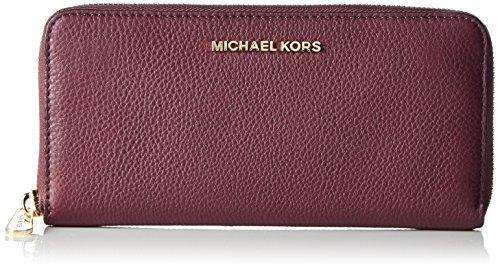 Michael Kors Damen Bedford Za Continental Geldbörse, Violett (Plum), 2.5x10x21 cm