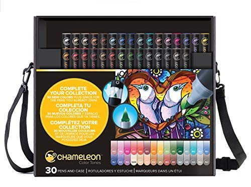 Chameleon Art Products - 30 deluxe permanente alkohol-filzstifte