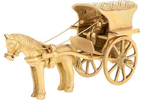 Kapasi artigianato in ottone decorativo cavallo carrello Idol Showpieces