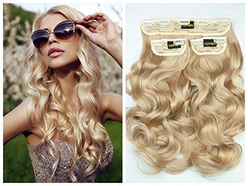 250g Bombshell 24Curly, 3-teilig, Full Head Clip in Hair Extensions Hair-wig-light Mittelblond M05
