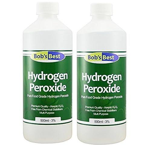 Qualité Alimentaire Peroxyde D'hydrogène - 3% Solution - 1000ml