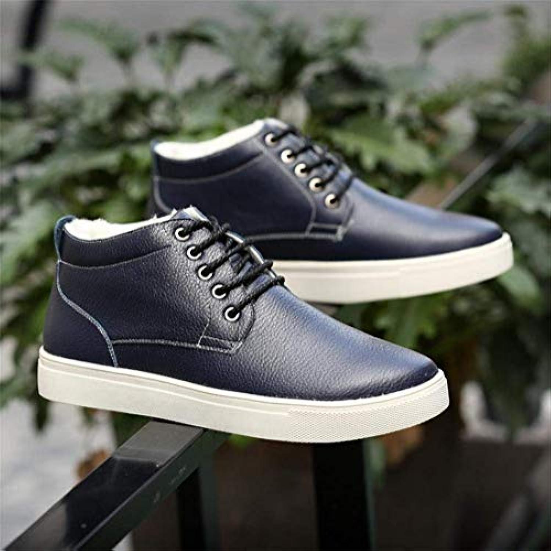 FuweiEncore FuweiEncore FuweiEncore Martin Bottes d'hiver Haute Chaussures en Coton pour Hommes Grande Taille Plus Coton Chaud Cachemire... - B07K336B3T - fe6f63