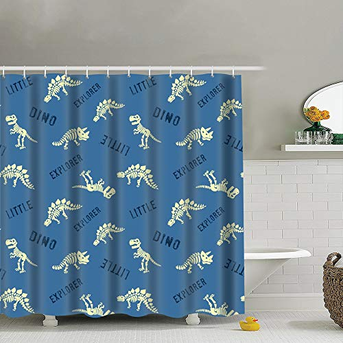 Qian Mu888 Fabric Bathroom Decoration Set with Hook Seamless Pattern Cute Polka Backgrounds Textures Animal Backgrounds Textures 60x72 in