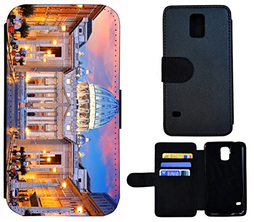 Flip Cover Schutz Hülle Handy Tasche Etui Case für (Apple iPhone 6 / 6s, 1408 Elefant Elefanten Baby Grau Afrika) 1399 Petersdom Vatikan Rom Italien Kirche