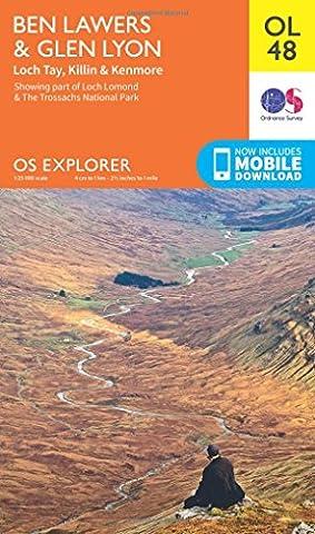 OS Explorer OL48 Ben Lawers & Glen Lyon (OS Explorer Map)