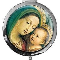 """metALUm - Extragroße Pillendose in runder Form""""Jungfrau Maria mit Kind"""" preisvergleich bei billige-tabletten.eu"""