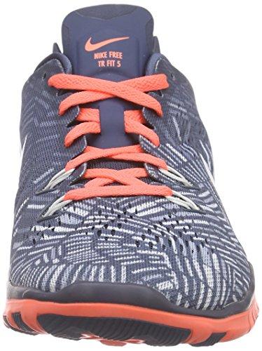Nike Damen Free 5.0 Tr Fit 5 Prt Leichtathletikschuhe Blau (Squad Blue/Weiß Helles Mango - Blau/Grau 406)