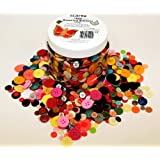 Assorted Buttons 1000+ & Storage Container 500g