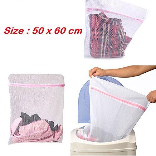 Premium Quality Protective Washing Bag Laundry Bag Mesh Fiber Clothing High-Quality (size : 50 X 60 cm)