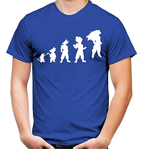 Evolution Son Goku T-Shirt | Dragonball-Z | Super | Vegeta | Saiyajin | Herren | FB Schwarz