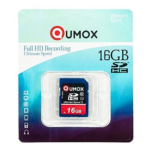 Carte Memoire D700 - QUMOX 16GB Go SDHC MEMORY CARD carte