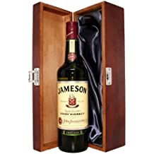 Jameson Irish Whiskey Triple Distilled in Luxury Hinged Stained Wooden Box