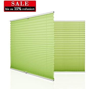 HOMEDEMO Plissee Rollo Klemmfix Ohne Bohren 90x130 Cm Jalousie Für Fenster  Und Tür Sichtschutz Und Sonnenschutz Grün