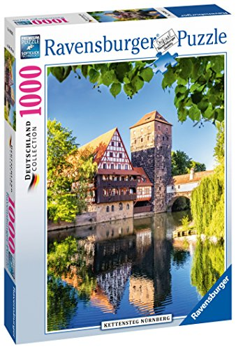 Ravensburger - El puente Kettensteg de Norimberga, rompecabezas de 1000 piezas, 70...