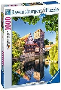 Ravensburger - El Puente Kettensteg de Norimberga, Rompecabezas de 1000 Piezas, 70 x 50 cm (196203)