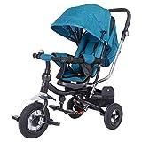 Spielwerk® Dreirad Kinderdreirad Kinder Fahrrad Rad Baby Kleinkinder | für Jungen & Mädchen | - Petrol -