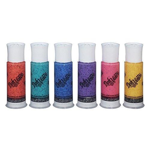 Hasbro DohVinci B9433ES0 - Glitzerfarben, 6er Pack, Bastelspielzeug