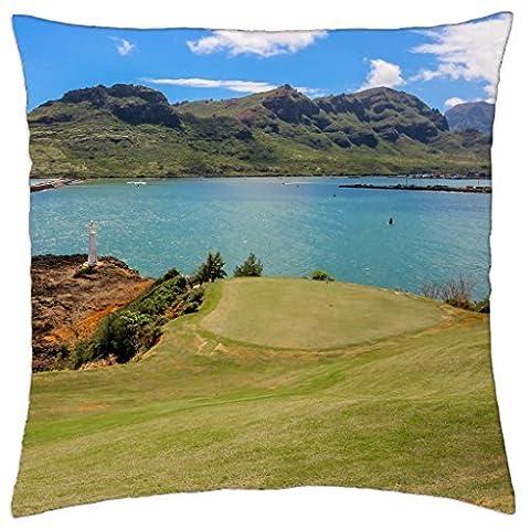 Princeville Golf Course Kauai Lagoons Hawaii - Throw Pillow Cover Case (18