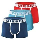 Diesel 3er Pack Boxer Shorts, UMBX Damienthreepack, Tunks, Pants, Fresh & Bright: Farbe: Blau/Türkis/Rot | Größe: M (Gr. Medium)