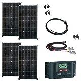 520 Watt Solaranlage 12V - Bausatz mit Laderegler, Solarmodul und allen Kabeln