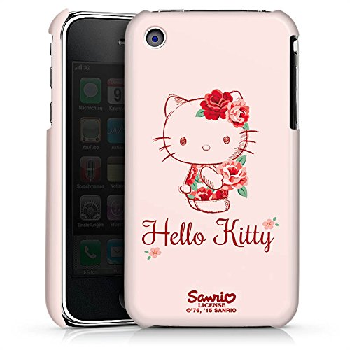 DeinDesign Premium Case kompatibel mit Apple iPhone 3Gs Hülle Handyhülle Hello Kitty Geschenke Merchandise Roses