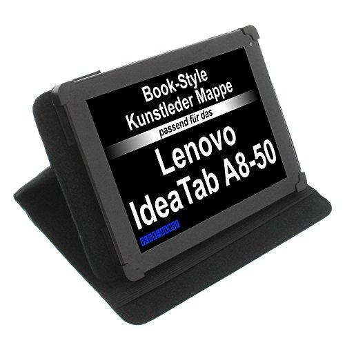foto-kontor Tasche für Lenovo IdeaTab A8-50 Tab 2 A8 Tab3 8 Book Style Schutz Hülle Buch schwarz