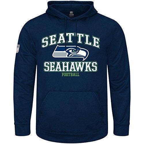 Majestic - Seattle Seahawks - Nfl Hoody - Greatness - Navy - M (Hoody Navy Pullover Sweatshirt Blauer)