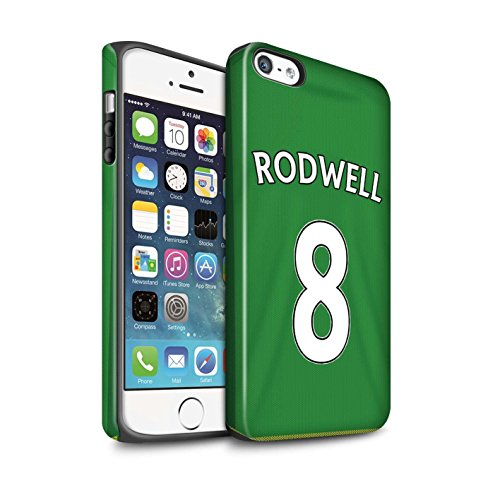 Officiel Sunderland AFC Coque / Matte Robuste Antichoc Etui pour Apple iPhone SE / Pack 24pcs Design / SAFC Maillot Extérieur 15/16 Collection Rodwell