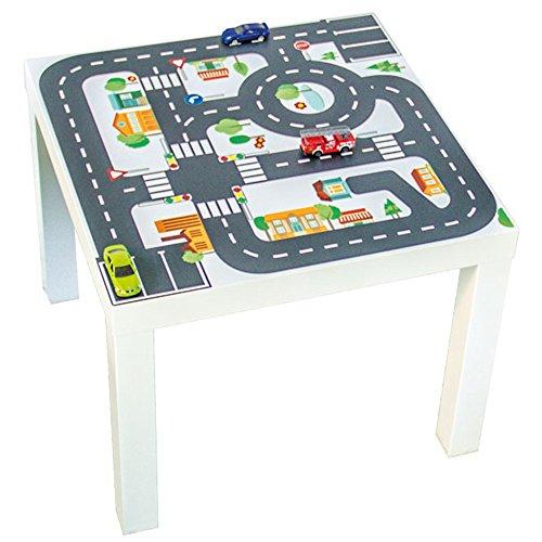 Möbelaufkleber Straßen - passend für IKEA LACK Beistelltisch - Kinderzimmer Spieltisch - Möbel nicht inklusive